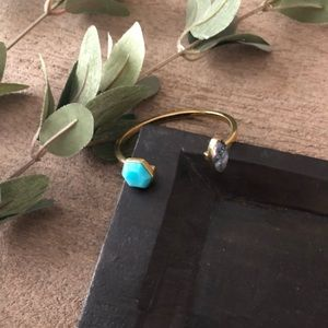 Noonday Collection Set in Stone Cuff NWOT